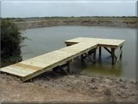 New Pier Construction on fishing pond