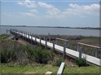 New pier construction on the bay